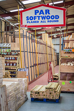 Great Barr Sawmills timber warehouse - planed softwood